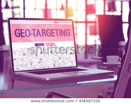 Geo Targeting Concept on Laptop Screen. 3D. Stock photo © tashatuvango