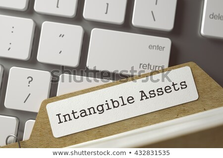 Card Index with Intangible Assets. 3D Render. Stock photo © tashatuvango