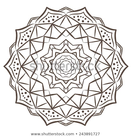 Etnische fractal mandala abstract ornament vector Stockfoto © fresh_5265954