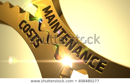 Repair Costs on the Golden Metallic Cog Gears. Stock photo © tashatuvango