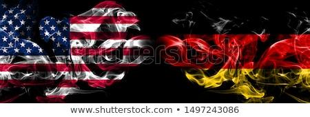 Foto stock: Futebol · chamas · bandeira · Estados · Unidos · américa · preto