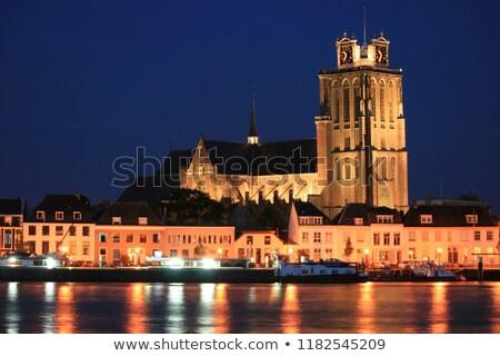 dachu · kościoła · starych · historyczny · miasta · architektury - zdjęcia stock © compuinfoto