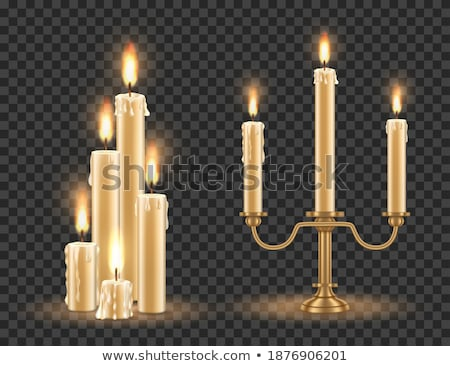 Retro Candlestick with Candle Stock photo © kostins