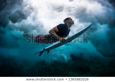 Stock photo: young man diving