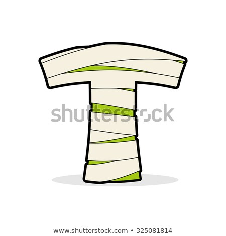 letter a mummy typography icon in bandages egyptian zombie t stock photo © popaukropa
