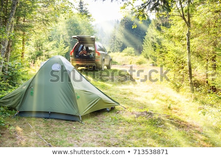 cozy camping with tent and a car stock photo © vapi