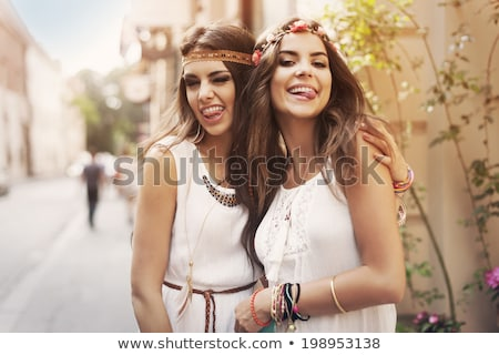 Moda menina imagem mulher pose sorrir Foto stock © Imabase