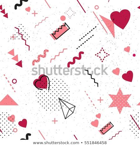 Funky styled valentine background Stock photo © milsiart