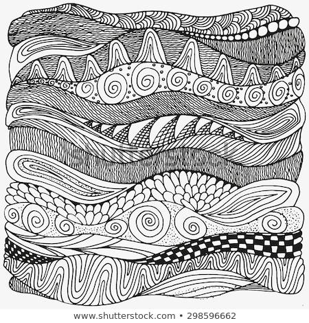 Mexican arte vettore pattern bianco nero design Foto d'archivio © RedKoala