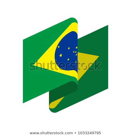 Brazil Flag isolated. Brazilian ribbon banner. state symbol Stock photo © popaukropa