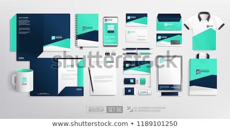Nowoczesne zestaw marka materiały biurowe streszczenie Zdjęcia stock © SArts