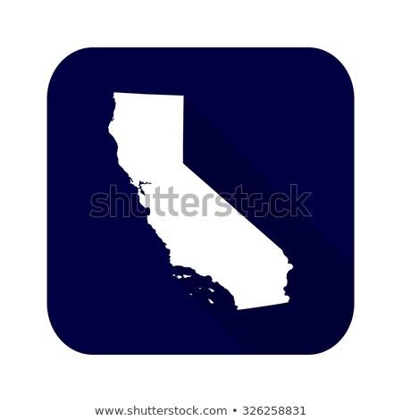 Kaliforniya bayrak kare etiket gölge Amerika Birleşik Devletleri Stok fotoğraf © MikhailMishchenko