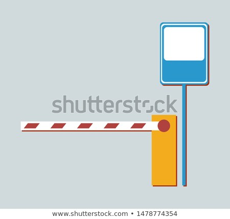 Barrier not Aallowing to Enter and Metal Road Sign Stock photo © robuart