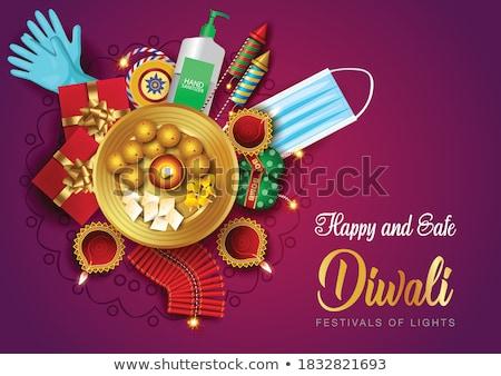 stylish diwali festival creative card design stock photo © sarts
