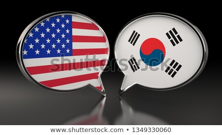 EUA Coréia do Sul pergunta informação contrato Foto stock © Ustofre9