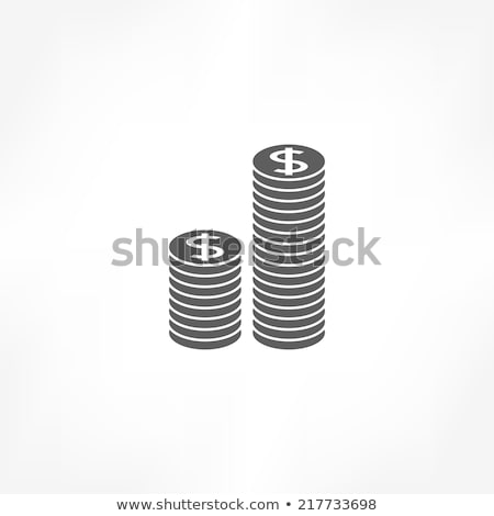 経費 アイコン スタック コイン 木製 家 ストックフォト © AndreyPopov