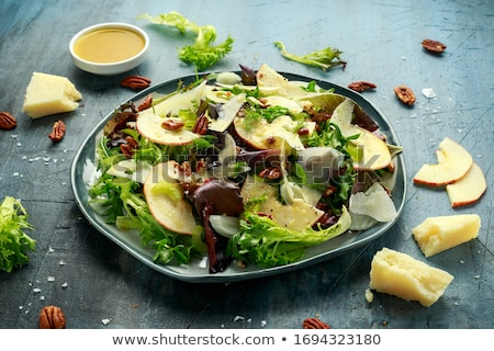 pumpkin salad with cheese and lettuce Stock photo © M-studio