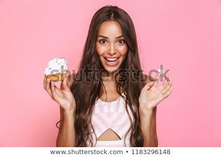 幸せ · 写真 · 白人 · 女性 · 長髪 · 笑い - ストックフォト © deandrobot