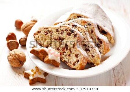 Cake christmas tijd glazuursuiker Stockfoto © nito