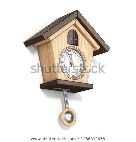 vintage · reloj · blanco · arte · tiempo - foto stock © djmilic