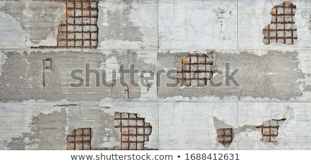 concrete old wall reinforcement repair Stock photo © romvo