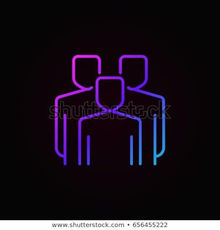 Lila lineáris skicc személy ikon felhasználó Stock fotó © kyryloff