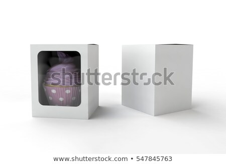 a cupcake inside the container stock photo © colematt