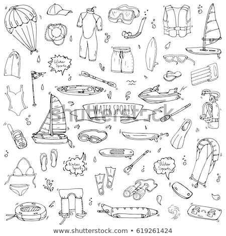 Water sport kano schets doodle Stockfoto © RAStudio