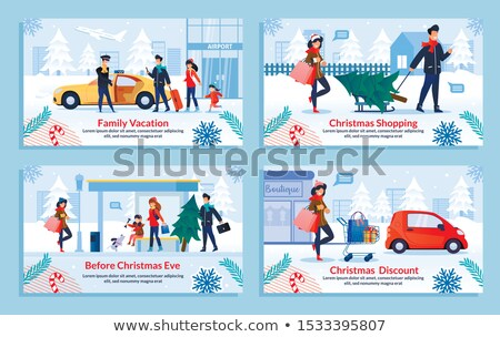 discounts during winter holidays sale poster woman stock photo © robuart