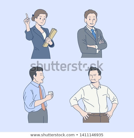 Man Businessman Characters in Office, ceo at Work Stock photo © robuart