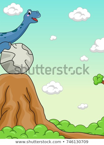 Dinosaurus potentieel energie illustratie school wetenschap Stockfoto © lenm