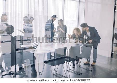 Mensen planning strategie bespreken onderwerp vector Stockfoto © robuart