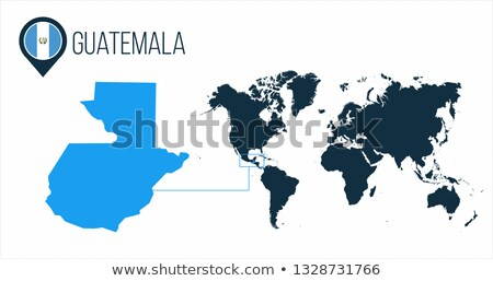 Guatemala map located on a world map with flag and map pointer or pin. Infographic map. Vector illus Stock photo © kyryloff