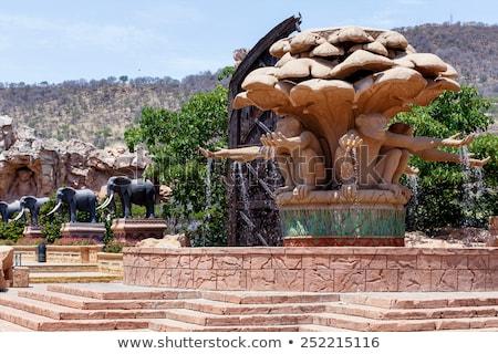 Elefánt szobor nap város elveszett Dél-Afrika Stock fotó © artush