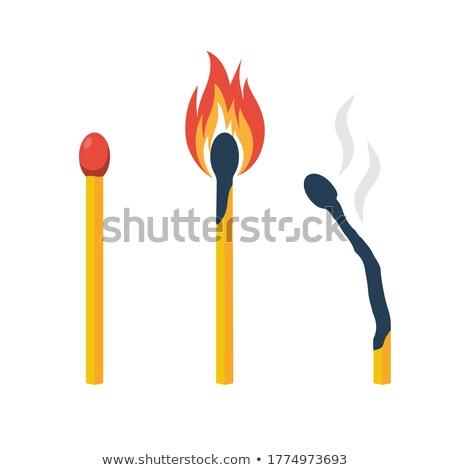 Matchbox and lighted match Stock photo © colematt