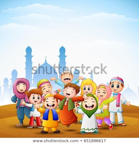 ムスリム 子供 モスク 実例 空 自然 ストックフォト © colematt