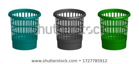 garbage basket on white background isolated 3d illustration stock photo © iserg