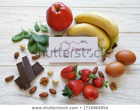 Products sources of hormone dopamine stockfoto © furmanphoto