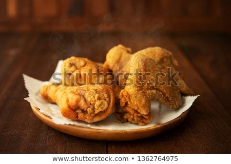 Plate of original recipe fried chickens Stock photo © szefei