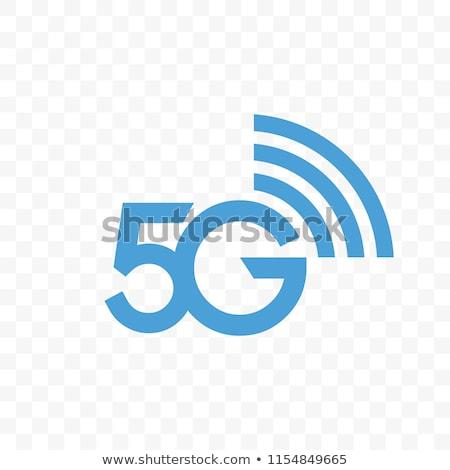 5G internet network vector logo. Isolated icon for 5 G mobile ne Stock photo © doomko