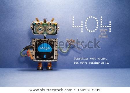404 fout pagina niet stijl sjabloon Stockfoto © jossdiim