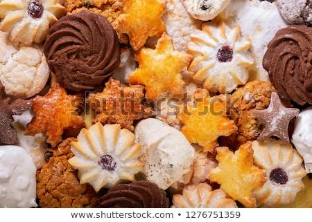 casero · cookies · chocolate · azul · grupo - foto stock © Melnyk