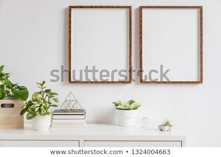 шкаф · декоративный · белый · дизайна · комнату - Сток-фото © dashapetrenko