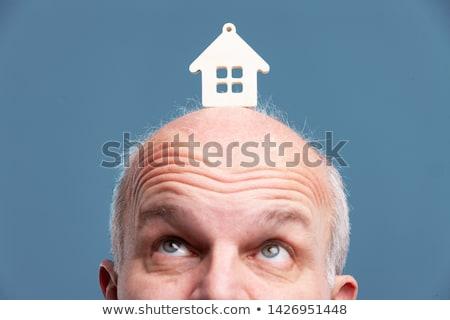 Homme modèle maison front supérieurs Photo stock © Giulio_Fornasar