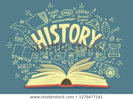 History lessons concept vector illustration. Stock photo © RAStudio