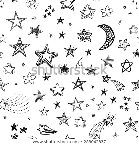 Stock photo: Cartoon cute doodles hand drawn Holidays seamless pattern