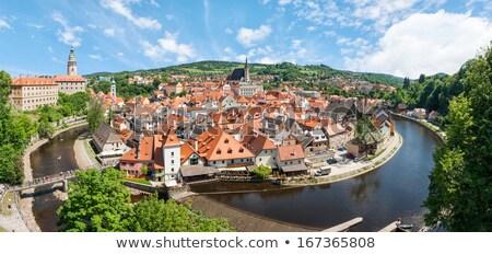 Kale köprü Çek Cumhuriyeti kapalı taş şehir Stok fotoğraf © borisb17