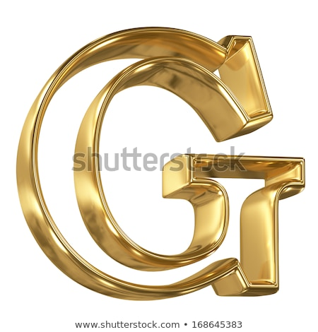 Yellow outlined font letter G 3D Stock photo © djmilic