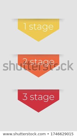 аннотация Инфографика опции числа шаблон Сток-фото © SArts