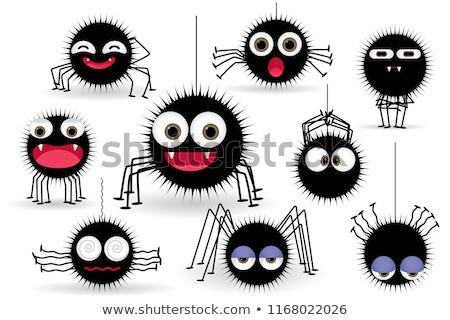 面白い クモ 昆虫 コミック 動物 文字 ストックフォト © izakowski